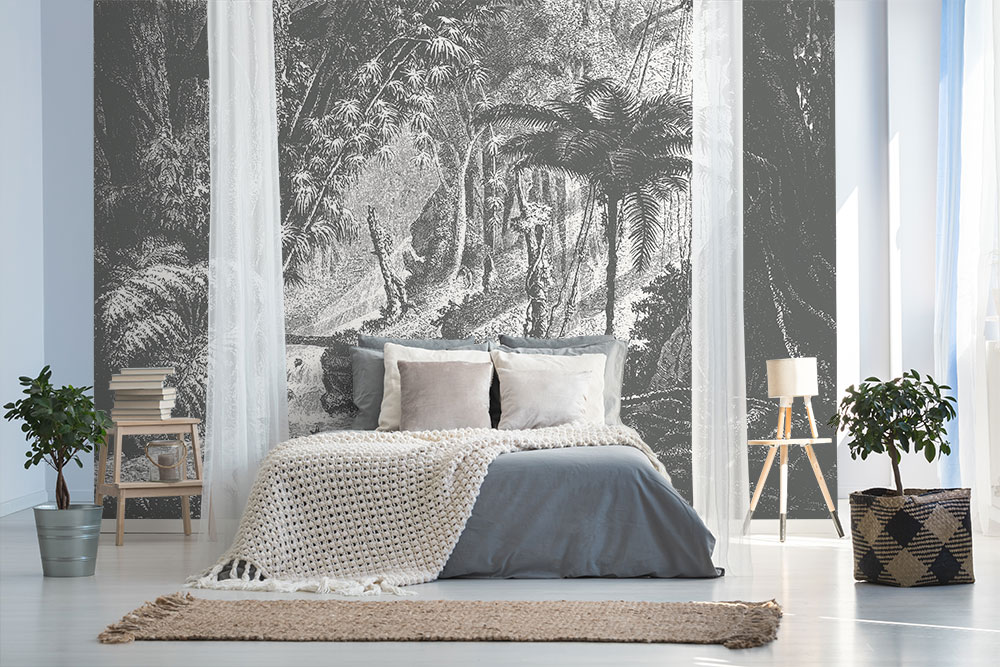 Black & White Beautiful Wallpaper Mural