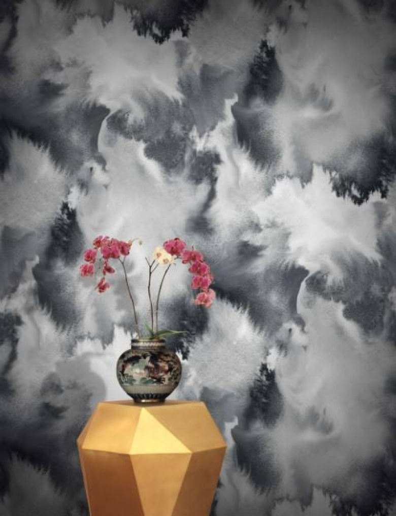 Grey Beautiful Watercolour Abstract Wallpaper