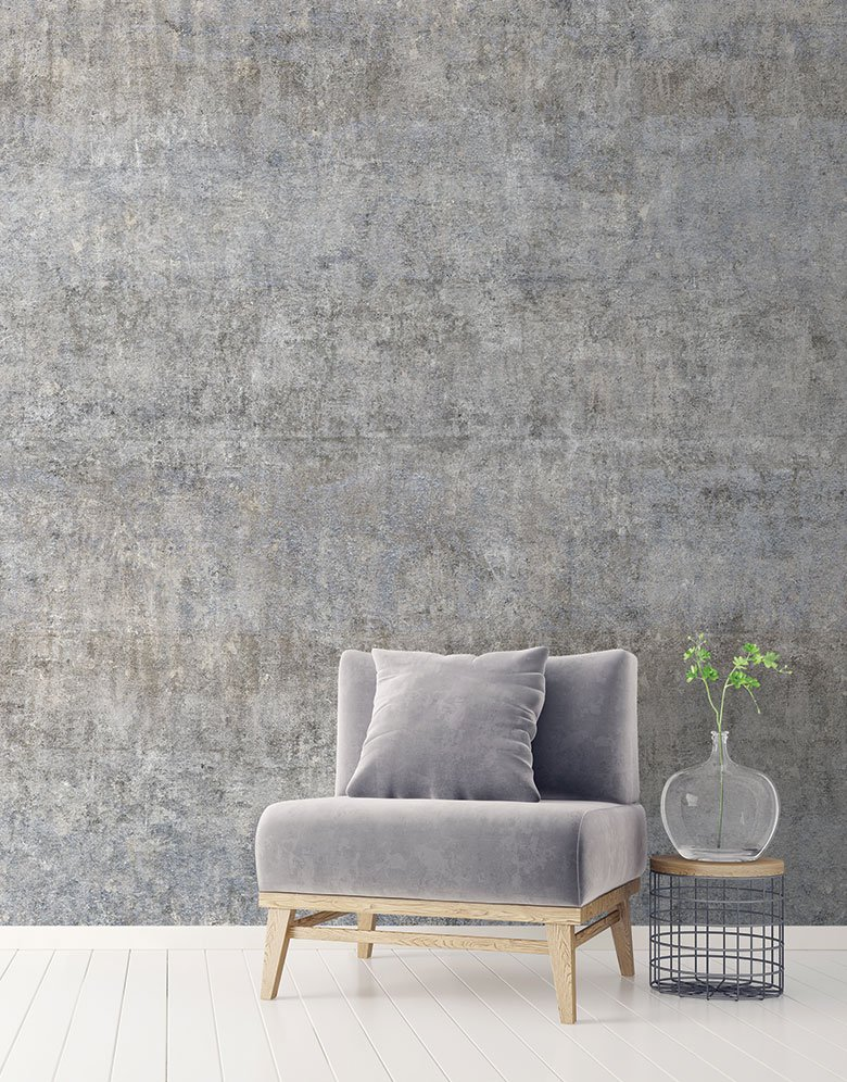 Grey Brown Shabby Chic Industrial Wallpaper Mural Feathr Wallpapers