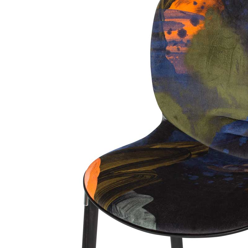 Designer Scandinavian Chair in Velvet