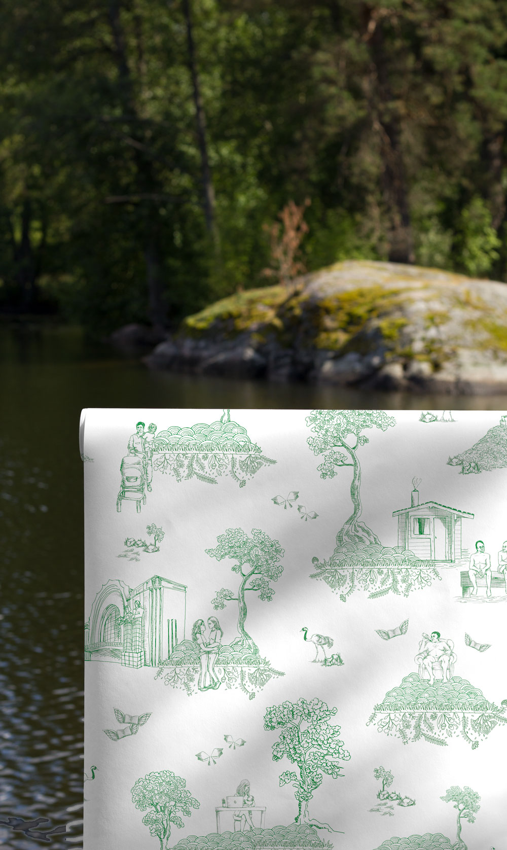 Finland Toile wallpaper by FEATHR