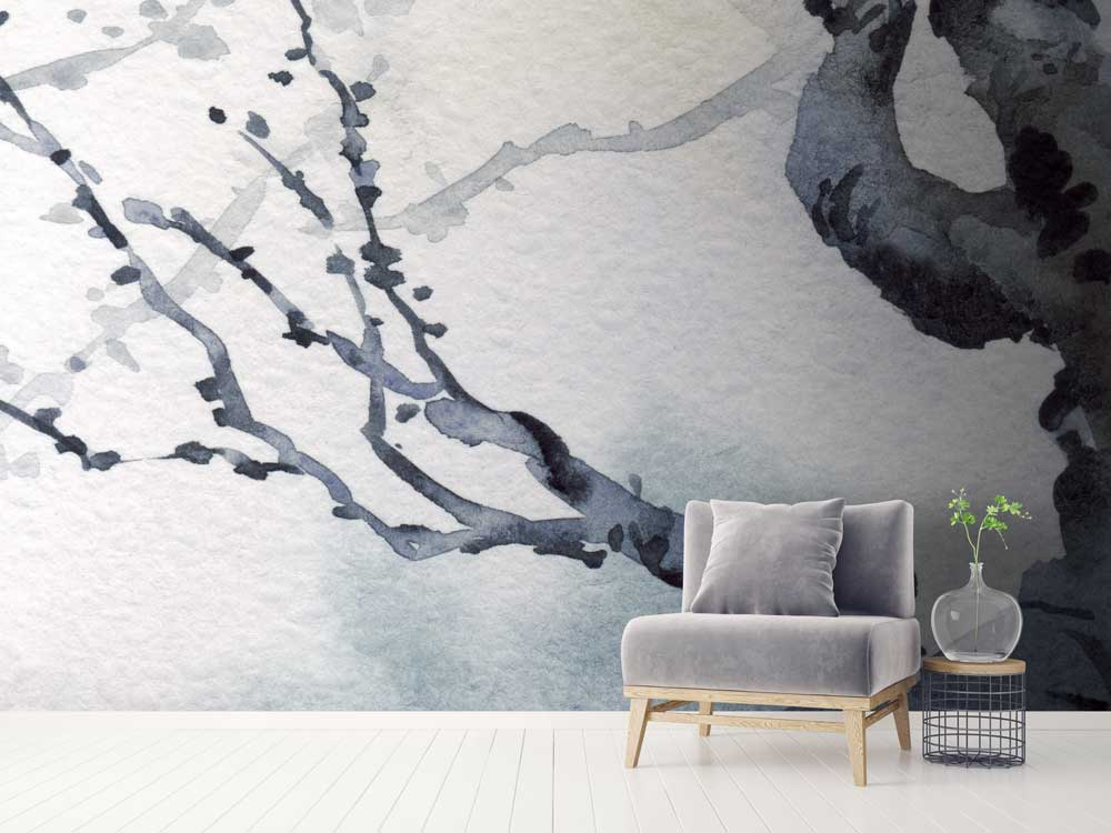 Japanese tree wall mural by la feature feathr for Asian wallpaper mural