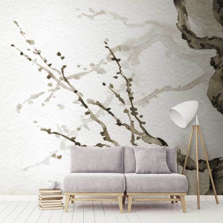 Japanese Tree Wall Mural FEATHR