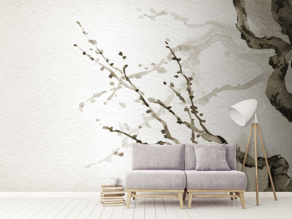 Forest wallpaper wall murals to bring nature into your home feathr - Japanese style garden furniture brings harmony into your life ...