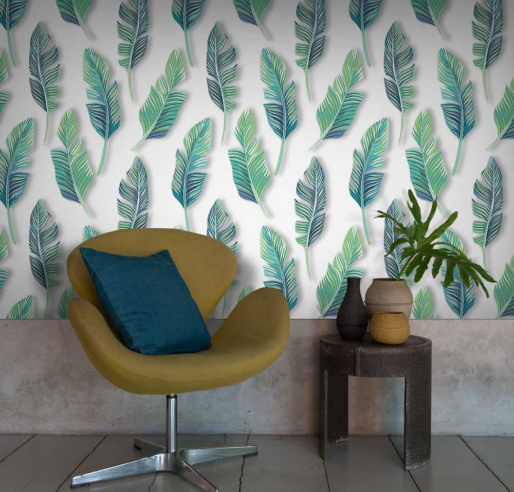 Tropical Wallpapers And Prints Are An Easy Way To Brighten Up Any Contemporary Home Forget Background Wallpaper These Bold Colourful Designs Meant