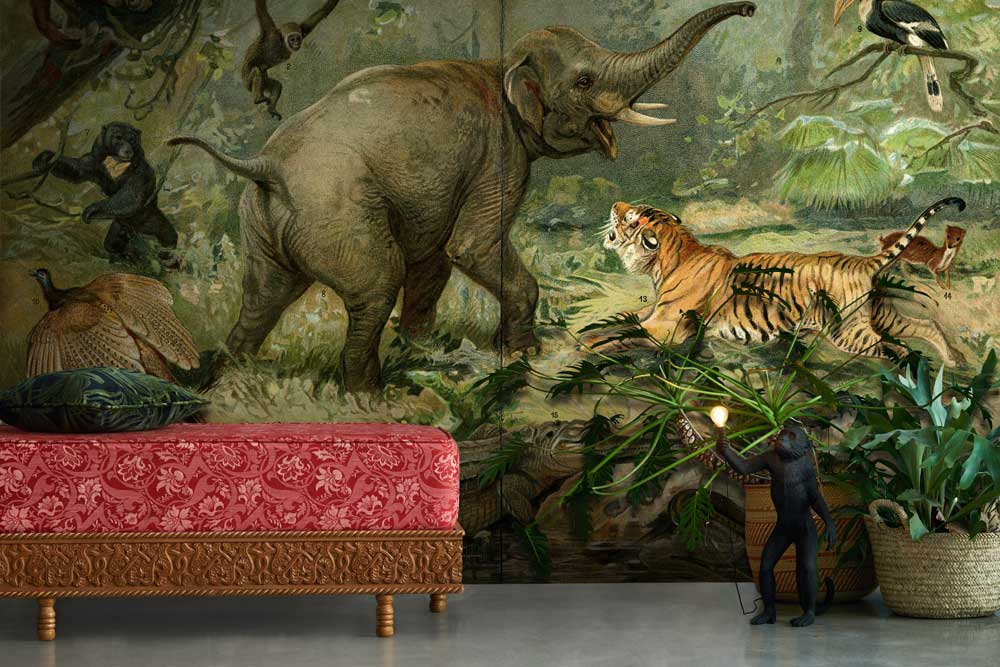 Jungle Animal Wall Mural By La Feature
