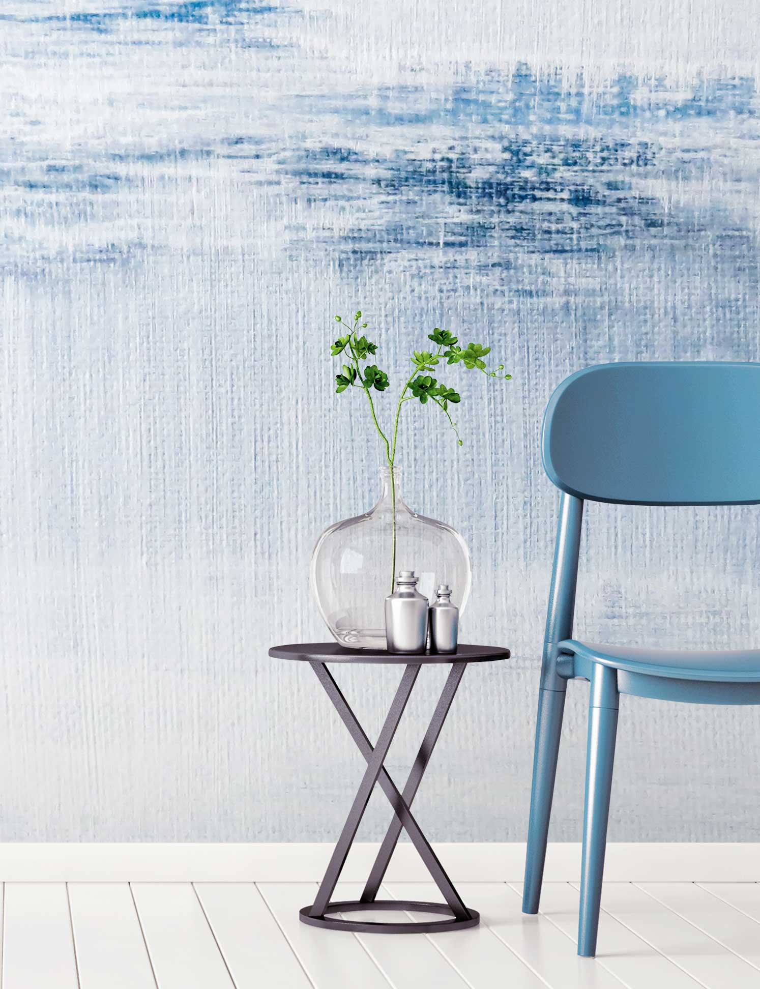 Lake Champlain wall mural by La Feature for FEATHR