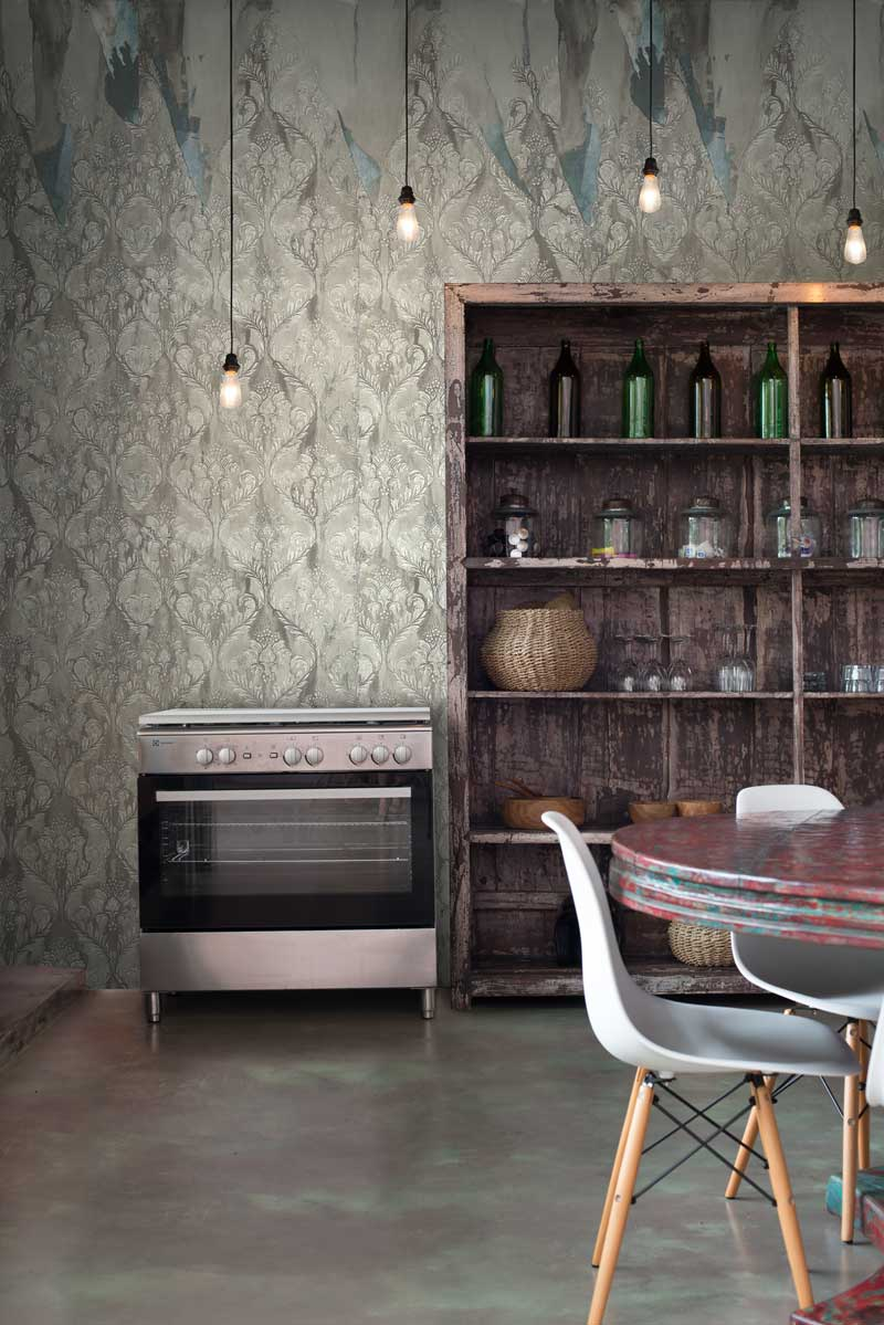 Image: Layered With Love wallpaper in Sand by Lyra Morgan for FEATHR