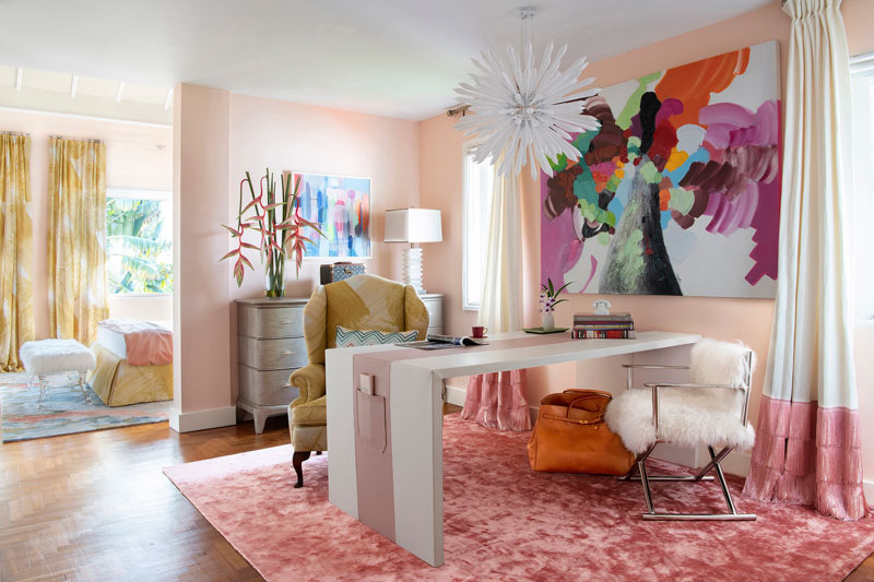 Contemporary abstract bold fabric