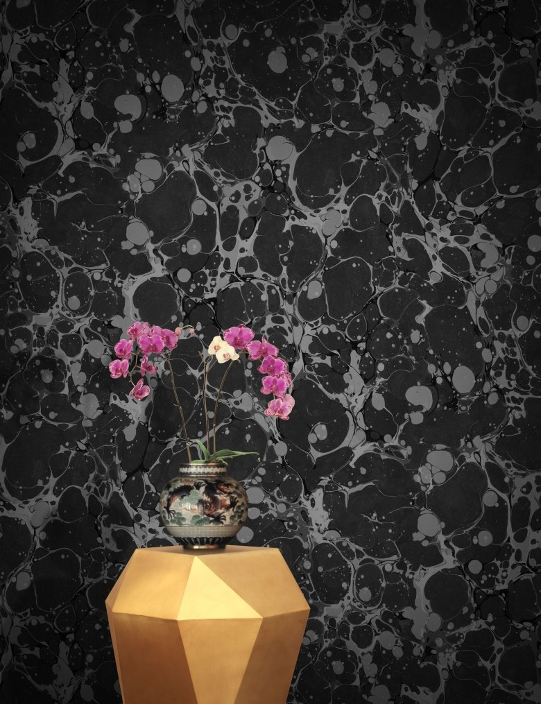 Black Stylish Designer Marble Wallpaper