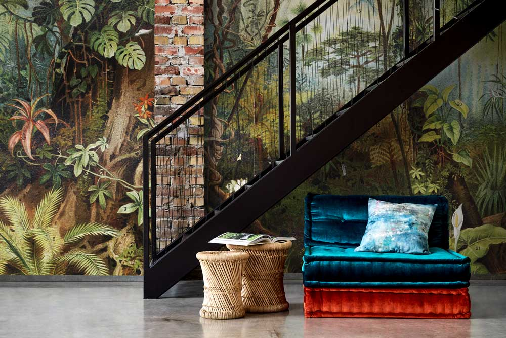tropical statement wall mural