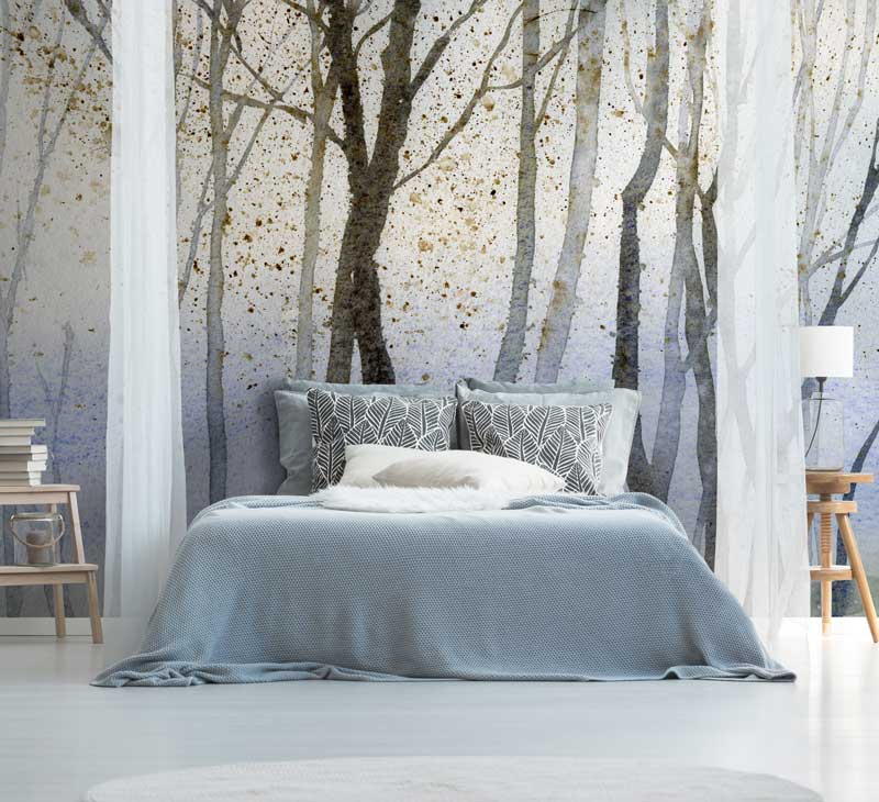 Forest wallpaper wall murals for all seasons FEATHR