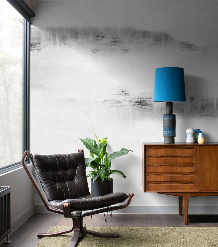 Black & White Subtle Abstract Wallpaper Mural
