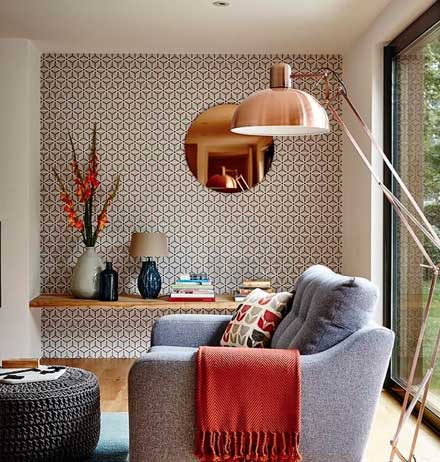 Beautiful How To Style Your Living Room With Wallpaper