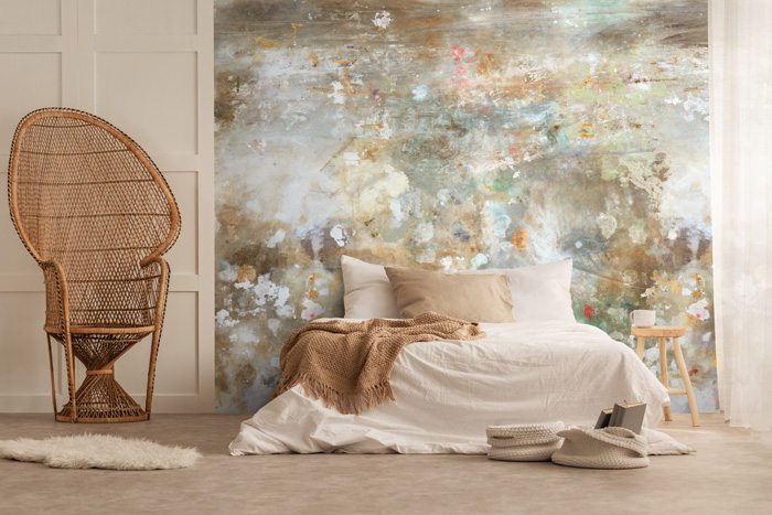 distressed shabby chic wallpaper