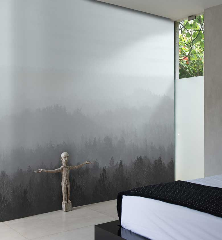 Oslo ice forest tree wall mural