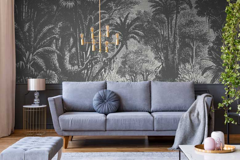 Black & White Statement Jungle Wallpaper Mural