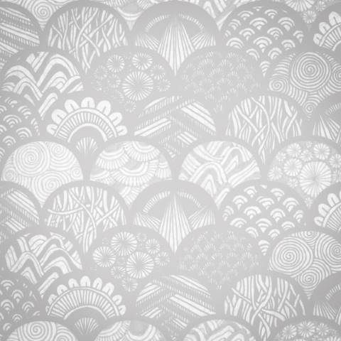Silver Feathers Wallpaper By Michiko Design