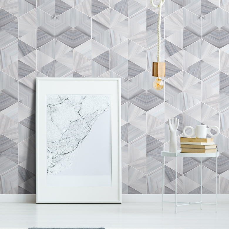geometric marble wallpaper for walls
